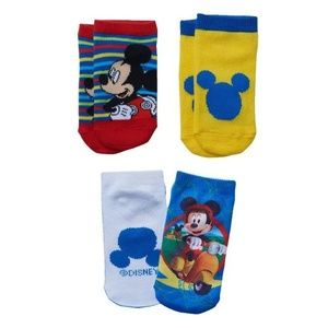 DISNEY - MICKEY MOUSE CLUBHOUSE -  3 PAIRS SOCKS